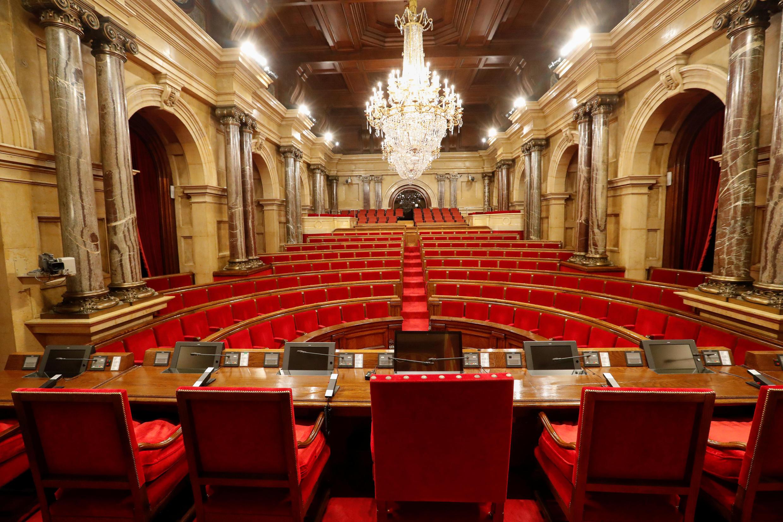 La cámara del Parlamento de Cataluña en Barcelona, el 5 de octubre de 2017.