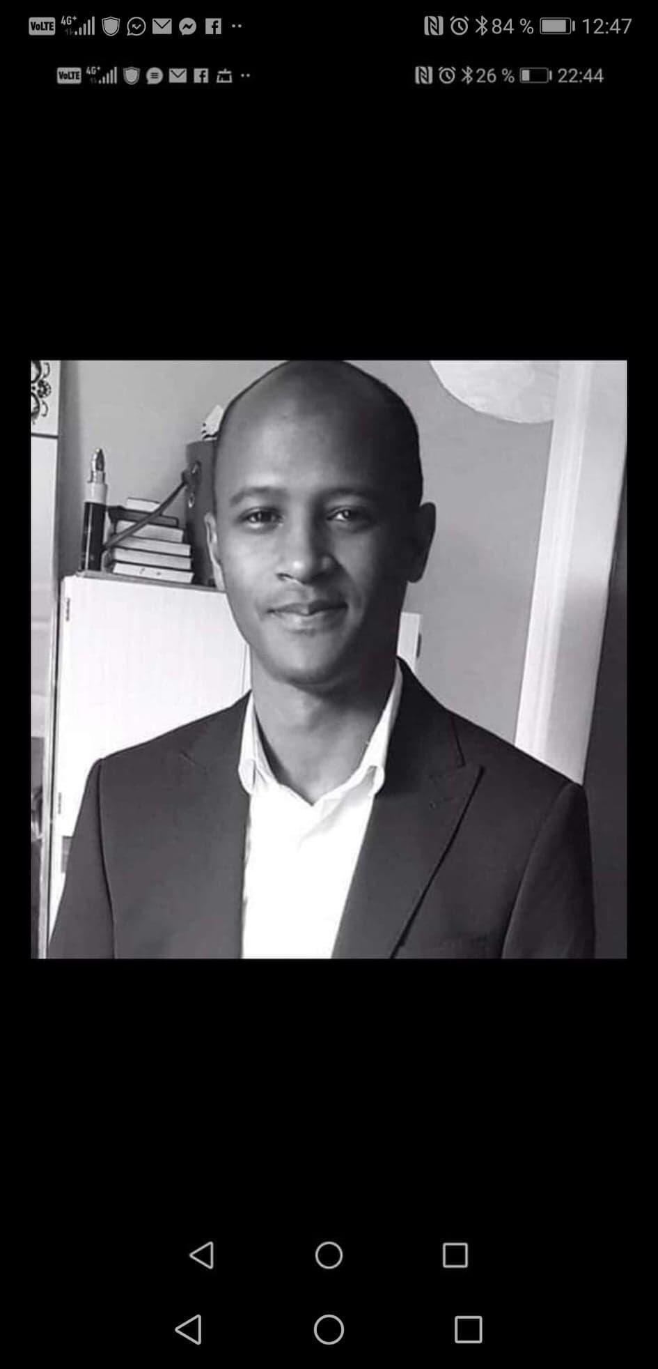 Mamoudou Barry,docente-investigador agredido mortalmente no dia 19 de Julho em Rouen.