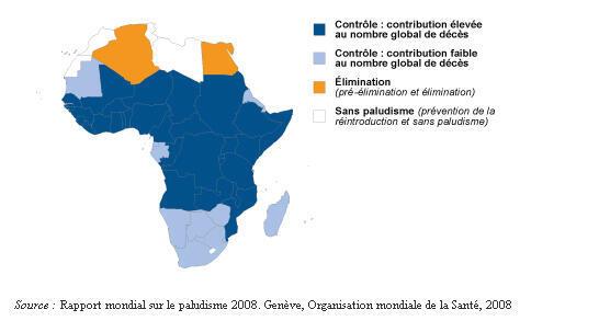La carte du paludisme en Afrique