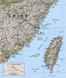 台灣海峽地圖