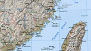 图为维基百科台湾海峡地图