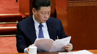中國主席習近平在人大會議開幕式上 2019年3月5日