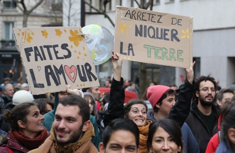 Marcha por el clima en París el 8 de diciembre de 2018.