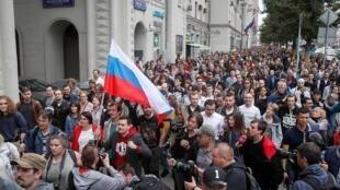 Акция за допуск оппозиционных кандидатов к выборам в Мосгордуму, 14 июля 2019