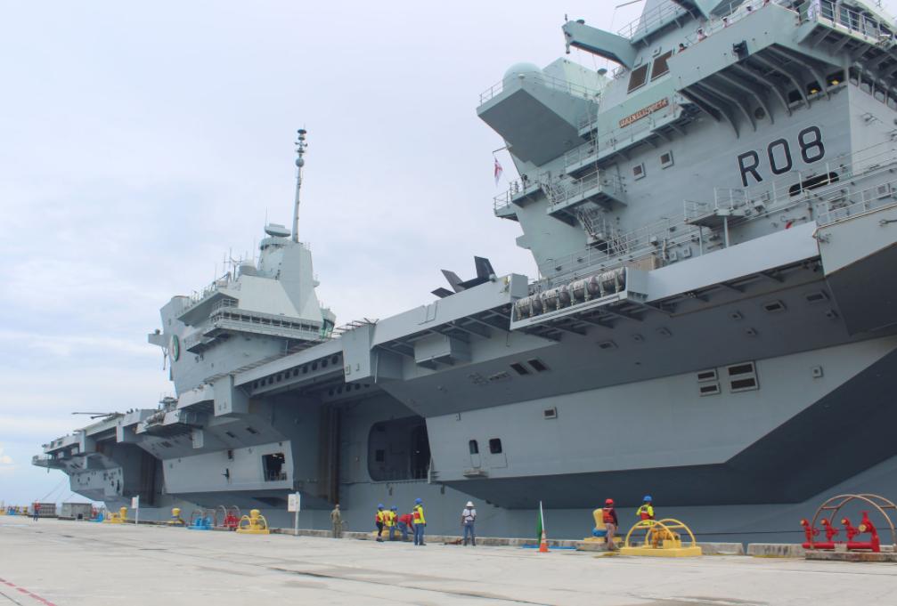 """英國皇家海軍""""伊麗莎白女王""""號航母資料圖片"""