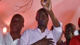 Le président haïtien Jovenel Moise assiste au défilé de Noël de Port-au-Prince, le 23 décembre 2018.