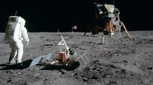 Buzz Aldrin marche sur la lune, le 21 juillet 1969.