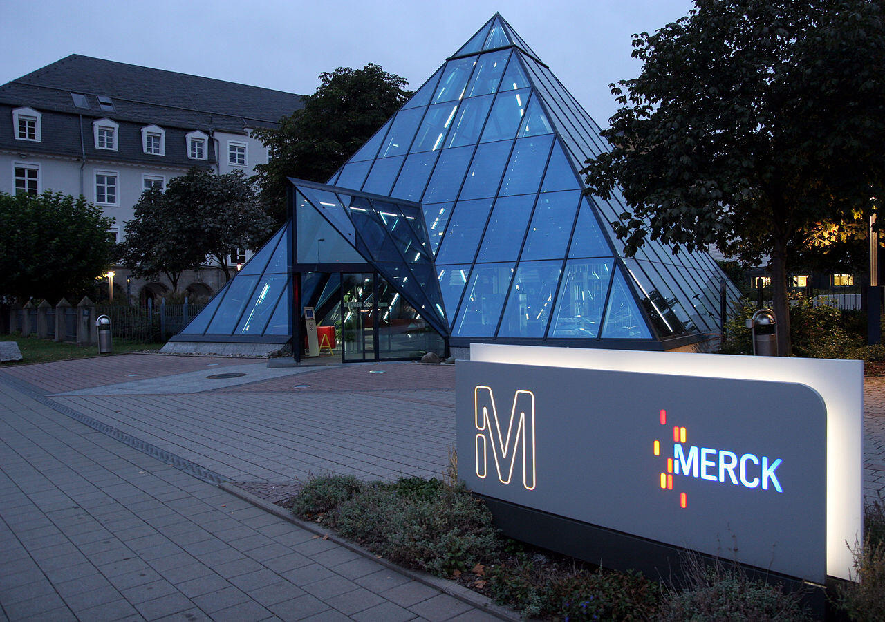 Le siège de Merck KGaA à Darmstadt, en Allemagne.