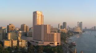 Un quartier du Caire le long du Nil.