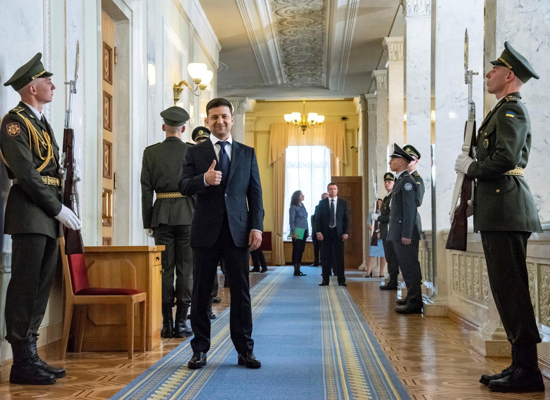 Президент Владимир Зеленский в Верховной Раде 20 мая 2019
