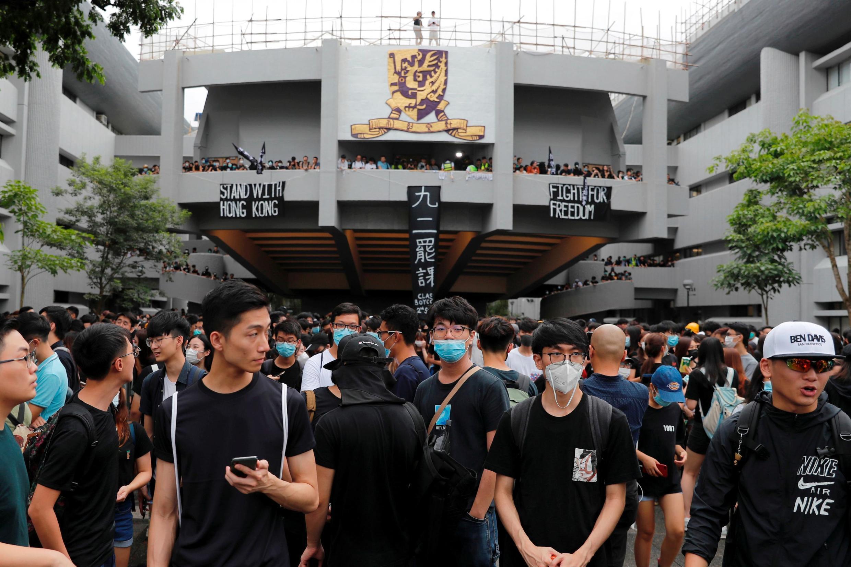Sinh viên bãi khóa tham gia phong trào phản đối dự luật về dẫn độ sang Trung Quốc, Đại học Trung Hoa Hồng Kông, ngày 02/09/2019
