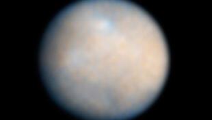 Image couleur de Cérès, le plus gros corps de la ceinture d'astéroïdes, prise par le télescope spatial Hubble de la Nasa.
