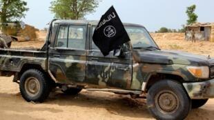 Un véhicule du groupe jihadiste Iswap, récupéré par l'armée nigériane lors d'une opération anti-terroriste. (image d'illustration)