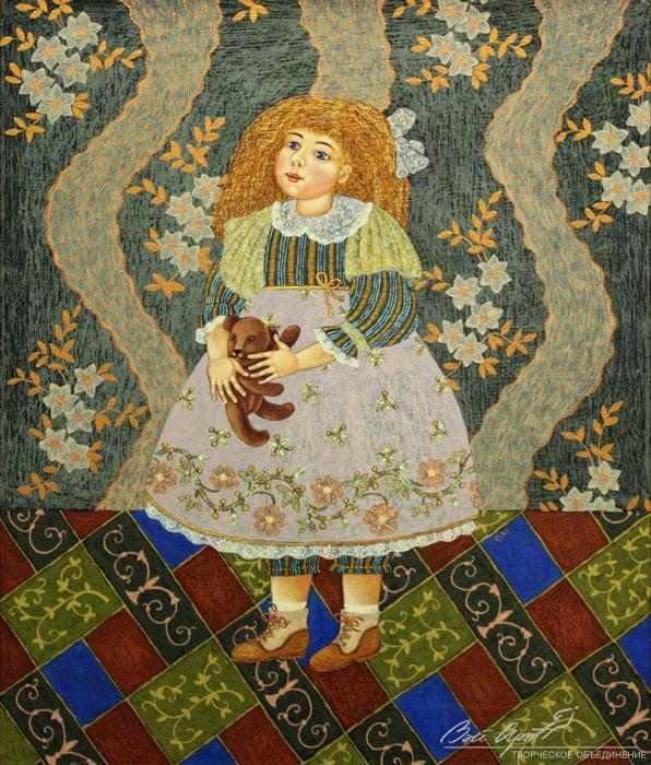 Полякова Марина, Девочка с мишкой (фрагмент), 2008 год