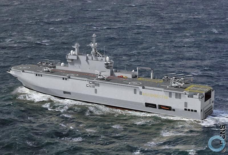 Os dois porta-helicópteros Mistral construídos para Moscou, serão equipados com armamentos de fabricação russa.
