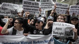 Biểu tình tại Hồng Kông đòi bảo vệ quyền lợi của lao động nước ngoài 17/03/2015