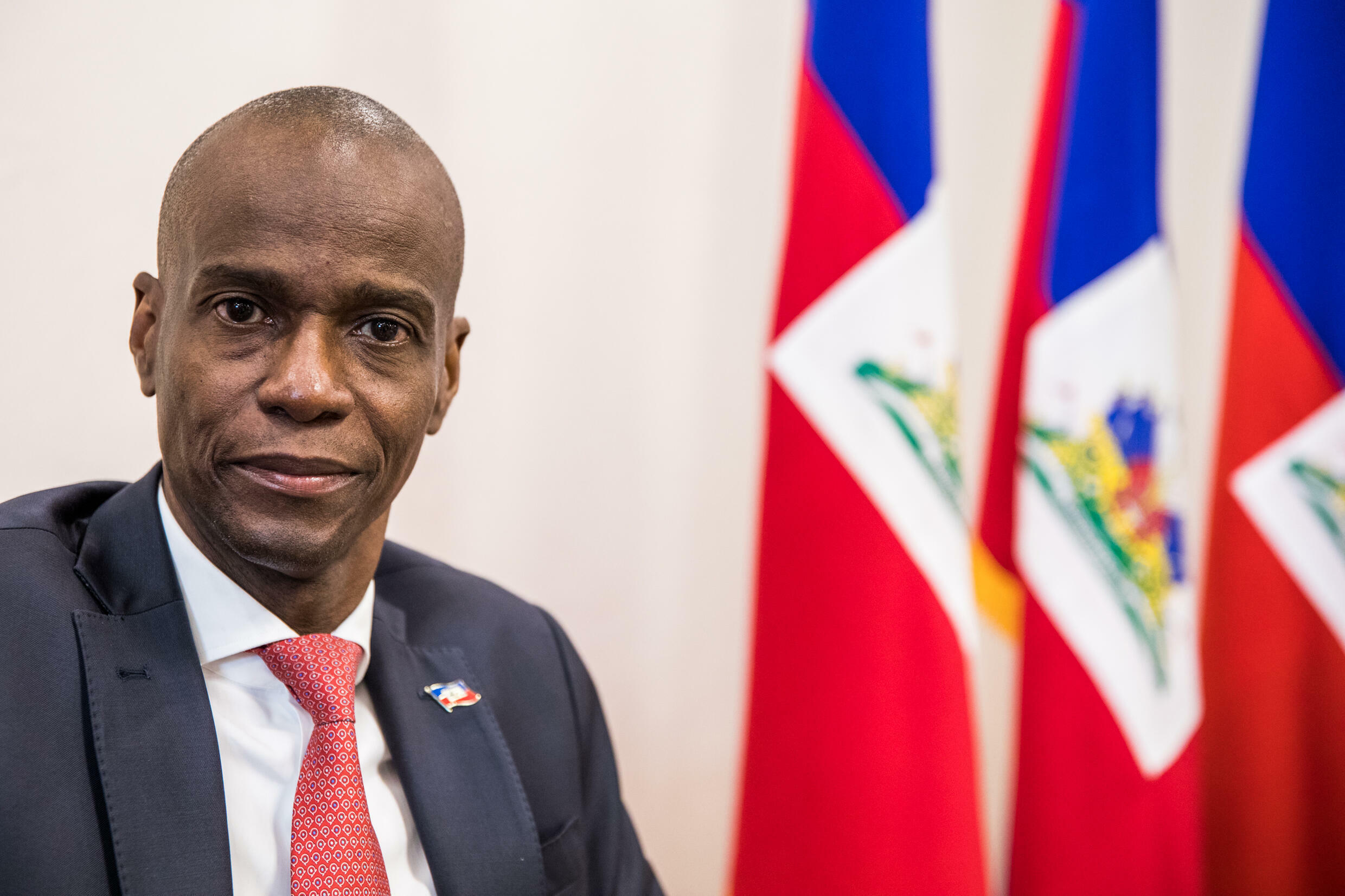 Haitian President Jovenel Moise, seen here in 2019, was shot dead in his home in Port-au-Prince -- it is unclear who could next lead the country