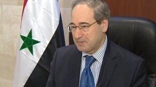 O vice-ministro sírio das Relações Exteriores, Fayçal Moqdad, em foto de arquivo.