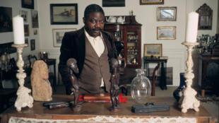 Portrait du père de la littérature congolaise moderne, Tchicaya U Tam'Si, en 1984 à Paris.