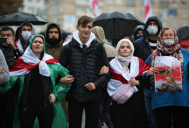 Протестный марш в Минске 11/10/2020