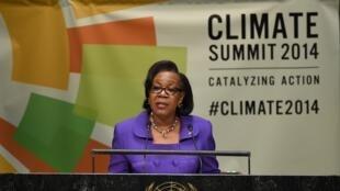 La présidente Catherine Samba-Panza s'est exprimée sur la situation de la RCA lors de l'assemblée générale de l'ONU, le 23 septembre 2014.