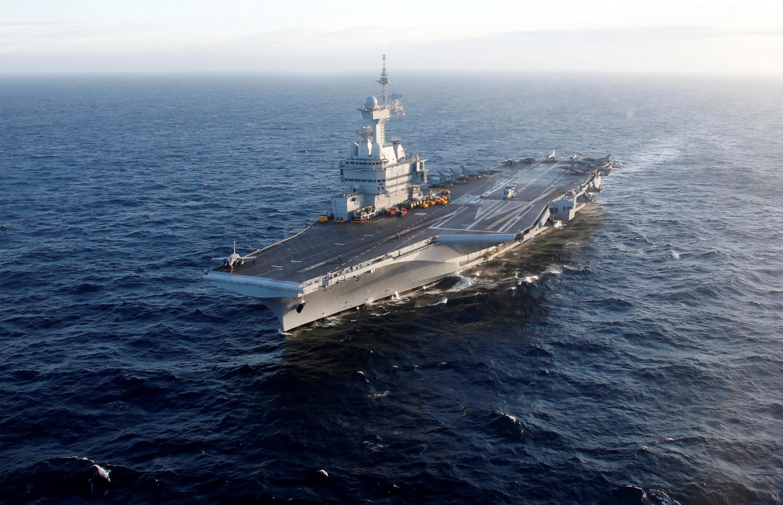 Le porte-avions Charles-de-Gaulle, le 7 mars 2019.
