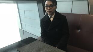 """Chan Ka Keong, realizador do filme macaense """"Passing rain"""" (Chuva passageira) no Festival de Macau a 9 de Dezembro de 2017."""