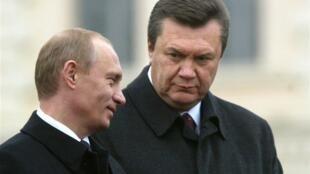 Владимир Путин и Виктор Янукович (архив)