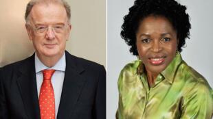 联合国首次举行曼德拉奖颁奖仪式  图为两位得奖人