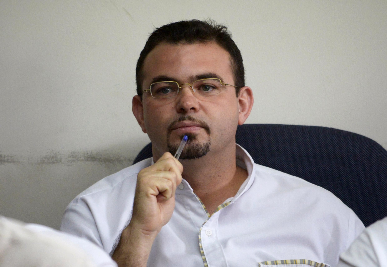 El sacerdote Antonio Rodríguez durante su proceso judicial en San Salvador, el 5 de agosto de 2014.