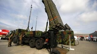 Anti-missile system SAMP/T by Thales, in Kielce, southern Poland, 2 September 2014.