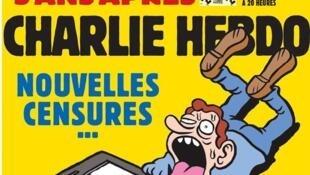 """Portada de Charlie Hebdo en su edición especial  """"Aniversario"""", publicada el 7 de enero de 2020, un lustro después de ser blanco de un sangriento atentado terrorista"""
