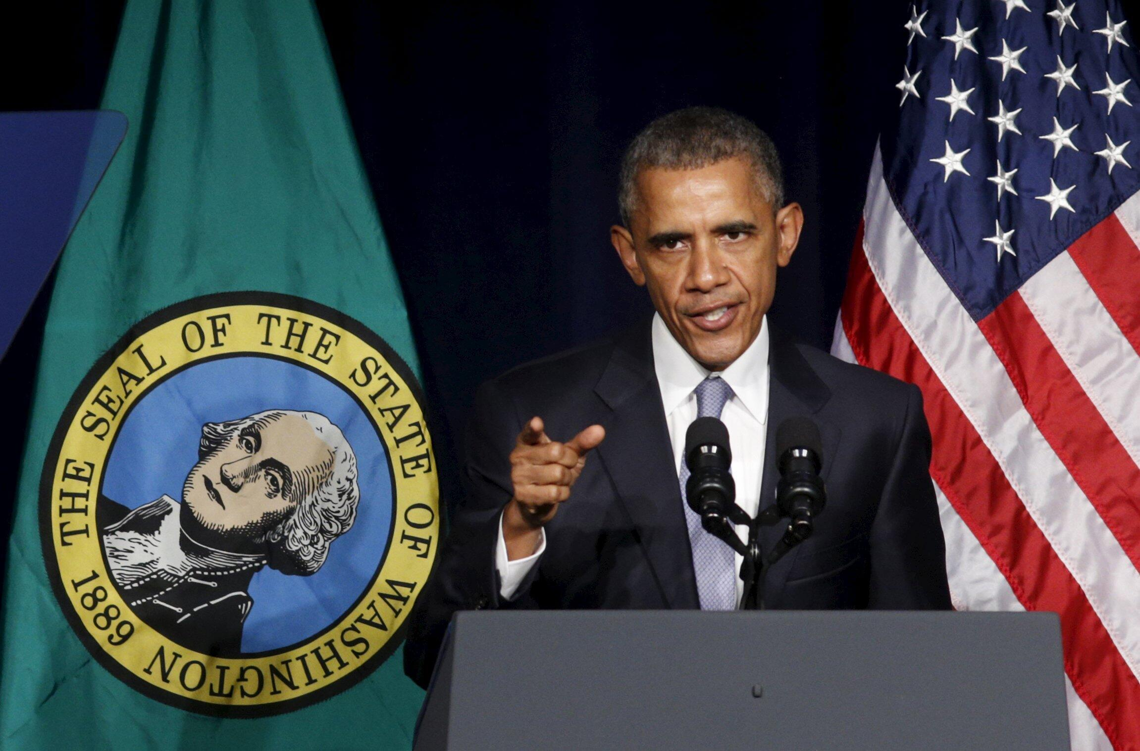 奧巴馬10月9日在華盛頓發表講話