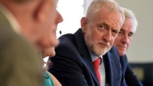 Thủ lĩnh Công Đảng Anh Jeremy Corbyn họp bàn với các lãnh đạo đối lập về Brexit, Luân Đôn, 27/08/2019.