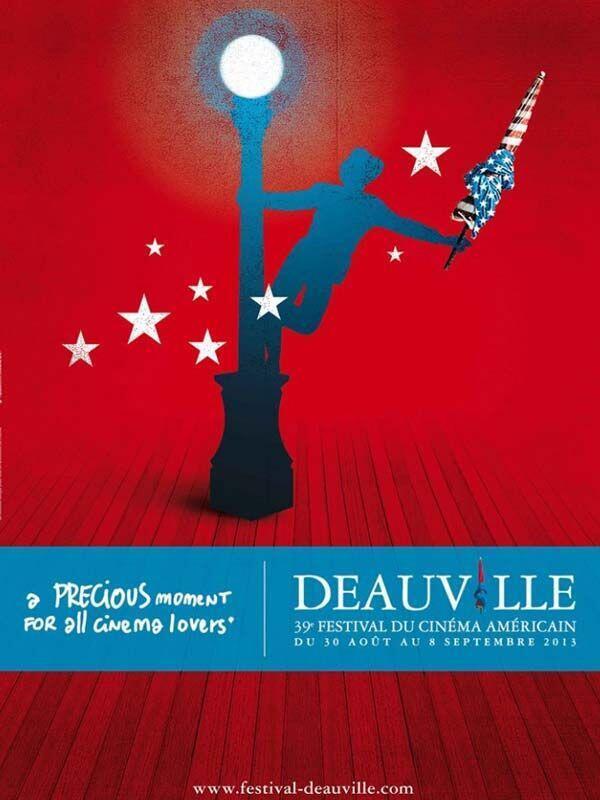 Detalhe do cartaz do Festival de Cinema Americano de Deauville.