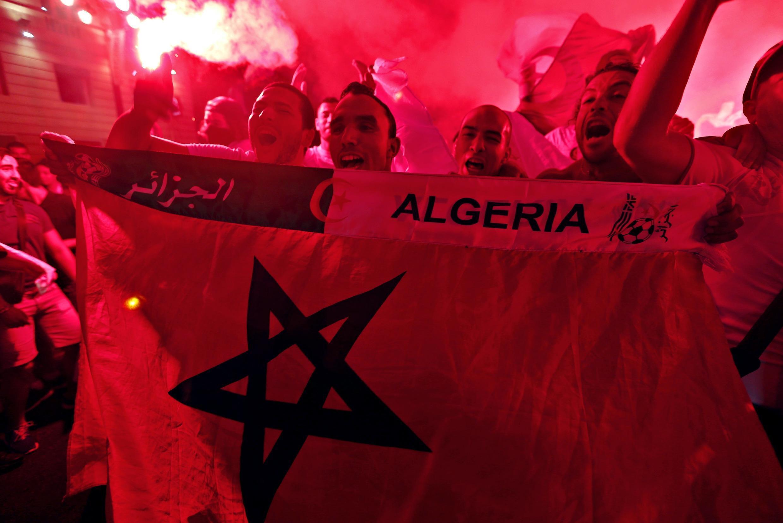 Algeria fans after match against Russia, Marseille 26 June, 2014