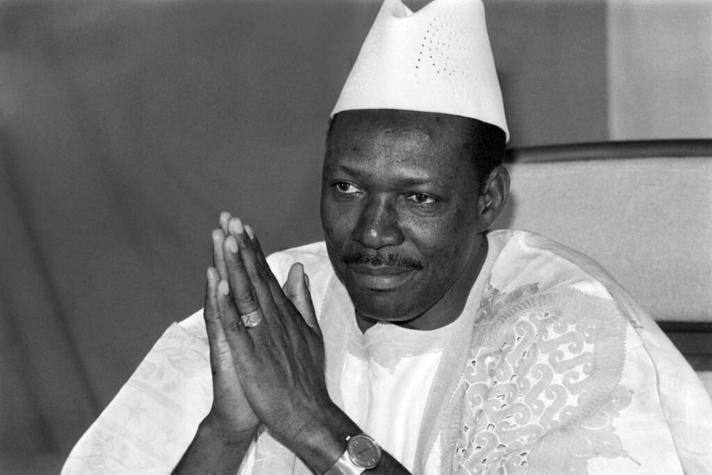 L'ancien président malien, Moussa Traoré, le 31 décembre 1985.