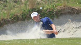 L'Américain Steve Stricker à l'entraînement avant le Championnat PGA, à Kiawah Island en Caroline du Sud, le 18 mai 2021