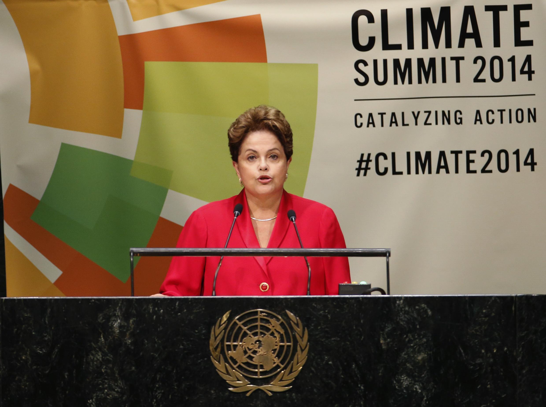 A presidente Dilma Rousseff discursou nesta terça-feira (23) na Cúpula do Clima, na sede da ONU, em Nova York.