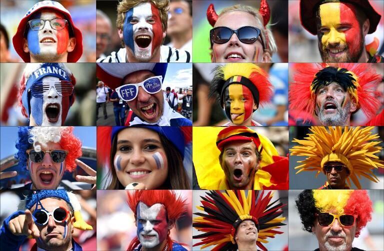 هواداران تیم های بلژیک و فرانسه