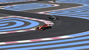 Ferrari driver Charles Leclerc negotiates the Le Castellet track in the 2019 French Grand Prix - but this year's race has been cancelled