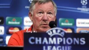 Alex Ferguson, manager du club anglais de Manchester United.