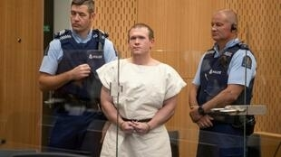 Brenton Tarrant, the man charged over the Christchurch mosque attacks, when he appeared in court in March