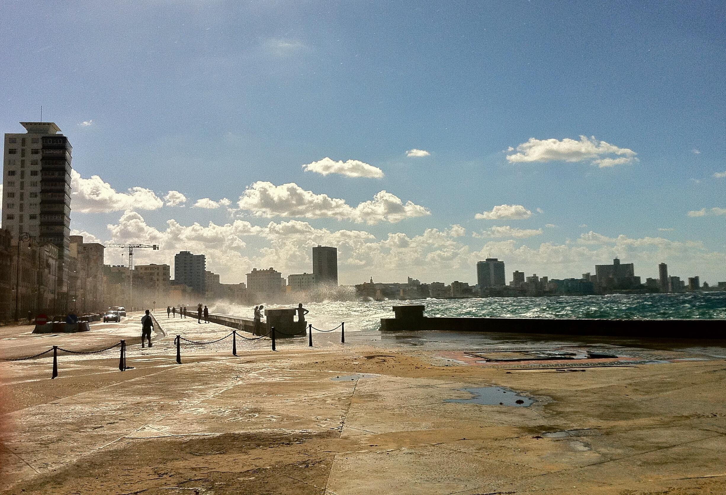 El mítico Malecón de La Habana.