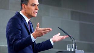 Prime minister Pedro Sanchez announced snap elections for 28 April 2019