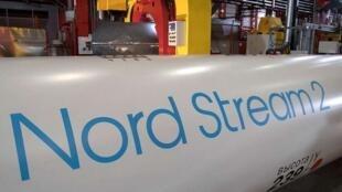 """لوله گاز """"نُورداِستریم ٢""""، قرار است از سال ٢٠٢٠ گاز روسیه را از طریق دریای بالتیک به آلمان انتقال دهد"""