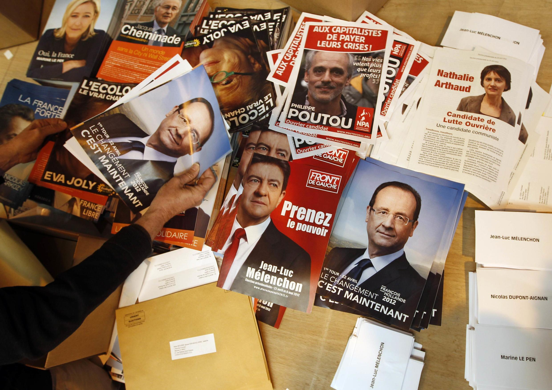 Cartazes da Presidencial francesa de 2012