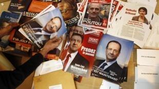 Os franceses vão às urnas neste domingo para definir os dois candidatos que continuarão na disputa pela presidência no segundo turno.