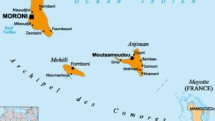 L'archipel des Comores, dans l'océan Indien.