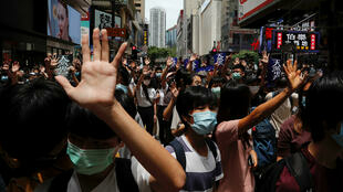 香港市民抗議港版國安法資料圖片